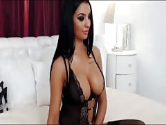 Perfect brunette is found daily at 1hottie giving show