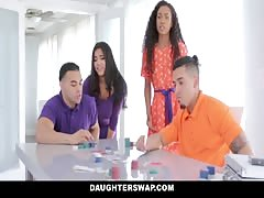 DaughterSwap - Hot Latina Besties Cock Swap