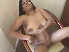 Indian Mature Playing and Shaving